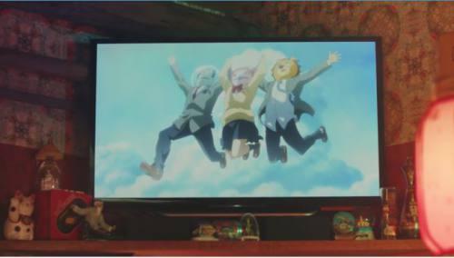 3人がアニメに